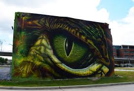 houston street art to see giant gator eye wall