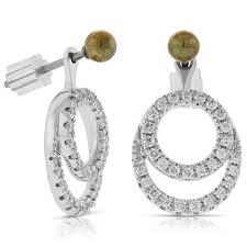 earring jackets convertible diamond earrings jackets 14k ben bridge jeweler