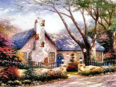Thomas Kinkade Clocktower Cottage by Church Of The Wayfarer U2013 Limited Edition Art We Dads And My Mom