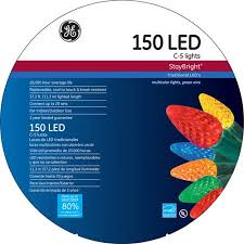 ge staybright led c5 multi color lights 150 count
