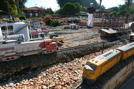 riverside man u0027s personal set of mini trains on track for memorial