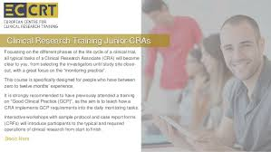 clinical research training for junior cras