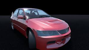 mitsubishi evolution 9 3d model mitsubishi lancer evolution ix cgtrader