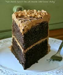 triple chocolate espresso cake with chocolate salted caramel