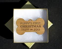 amazon com personalized puppy u0027s first christmas ornaments laser