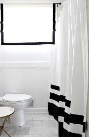 Black White Shower Curtain Black And White Color Block Shower Curtain Transitional Bathroom