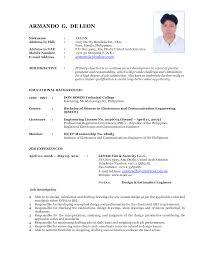 resume cv format format of writing a resume cv format sle resume 410682