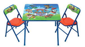 Outdoor Childrens Table And Chairs Paw Patrol Activity Table And Chairs By Kids Only Nickelodeon