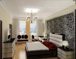 Modern Bed Frame With Storage Glamorous Modern Bedroom With Wooden Varnishing Bed Frame Combined