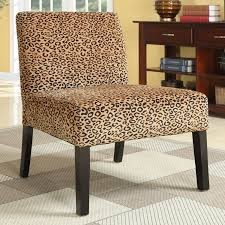 furniture chetah slipper chairs on cozy tiles and
