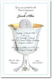 communion invitations boy blue border silver chalice and host boys communion invitations