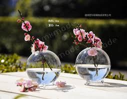 Round Flower Vases Aliexpress Com Buy O Roseli Circular Hydroponic Flower Wedding