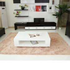 White Painted Coffee Table by Plate Minimalist White Paint Furniture Living Room Coffee Table