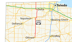Southern Ohio Map by Ohio State Route 109 Wikipedia