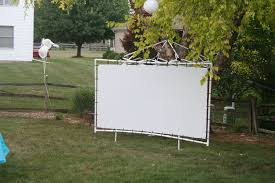 Backyard Screens Outdoor by Outdoor Projector Screen On A Budget 6 Steps With Pictures