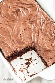chocolate dump it cake with chocolate cream cheese frosting chew