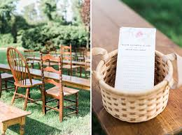basket for wedding programs rand bryan house wedding nc outdoor ceremony receptionfamily