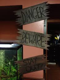 halloween wooden signs i made from cardboard boxes love em