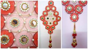 how to make wall hanging with bangles and cloth i diy craft i best