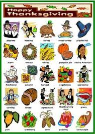 thanksgiving vocabulary exercises worksheets
