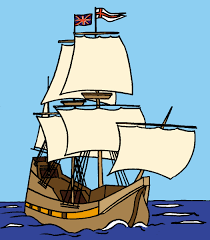 sailing ships clipart colonial pencil and in color