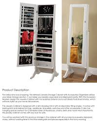 Jewelry Storage Cabinet Free Standing Mirror Jewellery Cabinet Nz Mf Cabinets