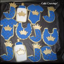 prince themed baby shower cookies cakecravings biz