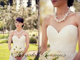 pearl crystal wedding necklace images Pearl bridal necklace chunky wedding necklace swarovski pearl jpg