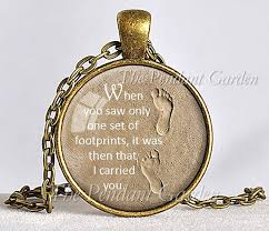 footprints in the sand gifts footprints in the sand necklace footprints poem christian