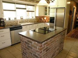 Island In Kitchen Ideas Kitchen Layout Brick Island Kitchen Ideas Pinterest Bricks