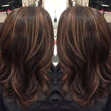medium lentgh hair with highlights and low lights highlights lowlights for dark brown hair dark brown hair with