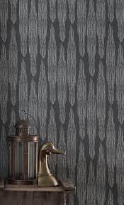 pines metallic wallpaper in charcoal u2014 fayce textiles