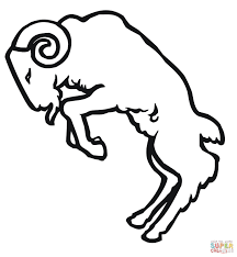 butting ram coloring page free printable coloring pages