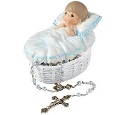 baby rosary baptized in his name resin box with rosary for boy precious