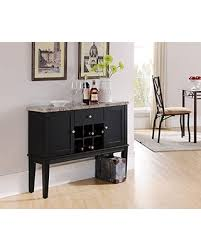console table with wine storage slash prices on kings brand furniture black wood with marble finish