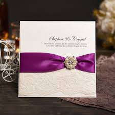 vintage lace wedding invitations vintage lace wedding invitations card with purple ribbon custom