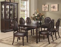 Traditional Dining Room Tables Brown Cherry Finish Traditional Dining Table W Optional Items
