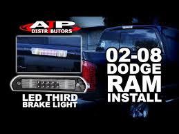 02 08 dodge ram led third brake light install ajp distributors