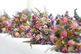 dried flower arrangements our field flower bridesmaid dried flower bouquet for a