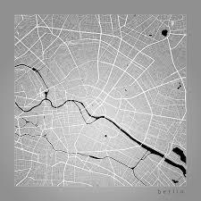 Berlin Germany Map by Berlin Street Map Berlin Germany Road Map Art On Color Digital