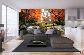 mural wonderful autumn forest waterfall wallpapers mural wonderful autumn forest waterfall