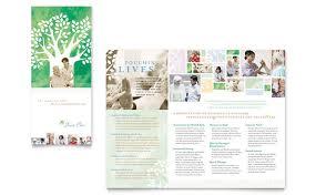 elder care u0026 nursing home brochure template design