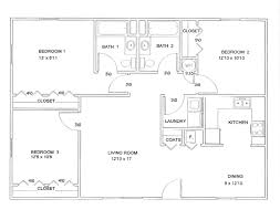 three bedroom floor plans floor plan of 3 room with bathroom modern house