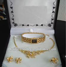 necklace set gift box images High quality watch gift box gold plated girl watch gold plated jpg