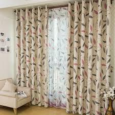 Khaki Curtains Leaf Energy Saving Beautiful Curtains In Khaki Buy Multi Color