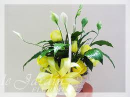 basket arrangements basket live plants flower arrangement le jardin florist