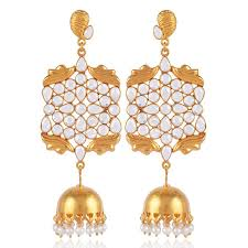 jhumka earring amazing sterling silver gold plated jhumka earring buy now cz and