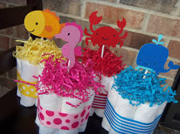 the sea baby shower decorations cakes the sea theme set of 4 small cakes baby shower