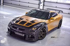 gold and black ferrari gold carbon ams nissan gt r with adv 1 wheels gtspirit