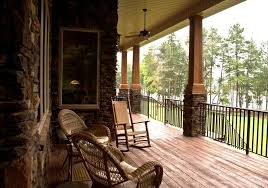 front porch columns traditional with stone stairs adirondack chairs